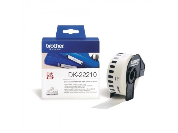 Banda continua hartie Brother DK22210, 29mm, 30.48m