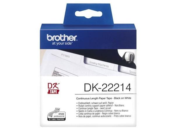 Banda continua hartie Brother DK22214, 12mm, 30.48m