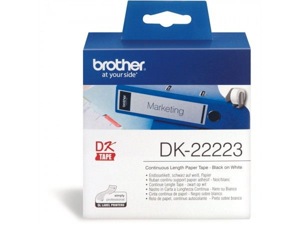 Banda continua hartie Brother DK22223, 50mm, 30.48m