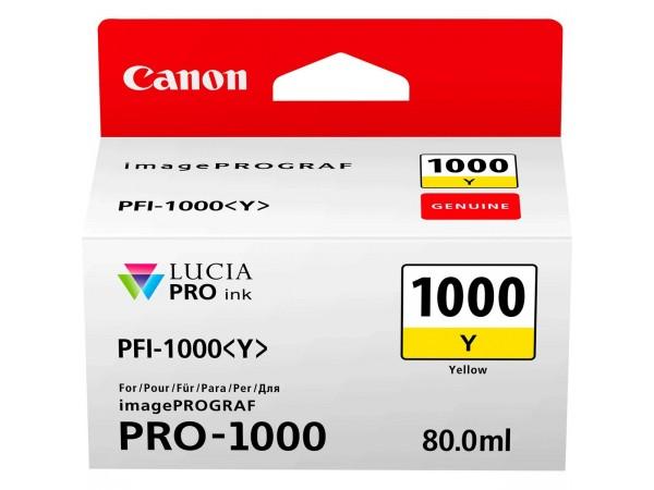 Canon Yellow PFI-1000Y Cartus cerneala